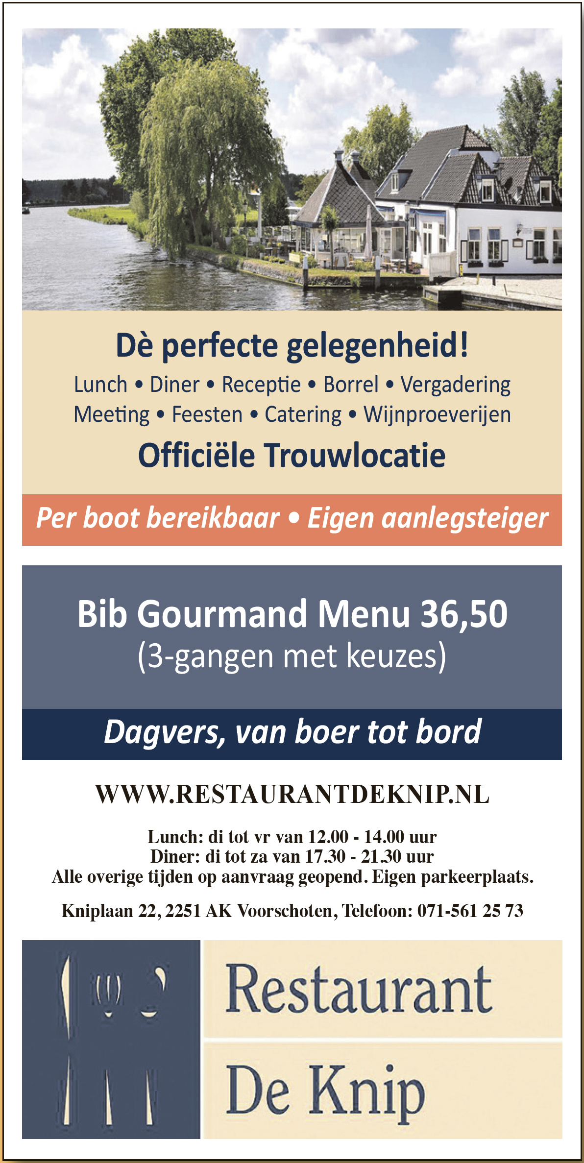 Advertentie Restaurant De Knip