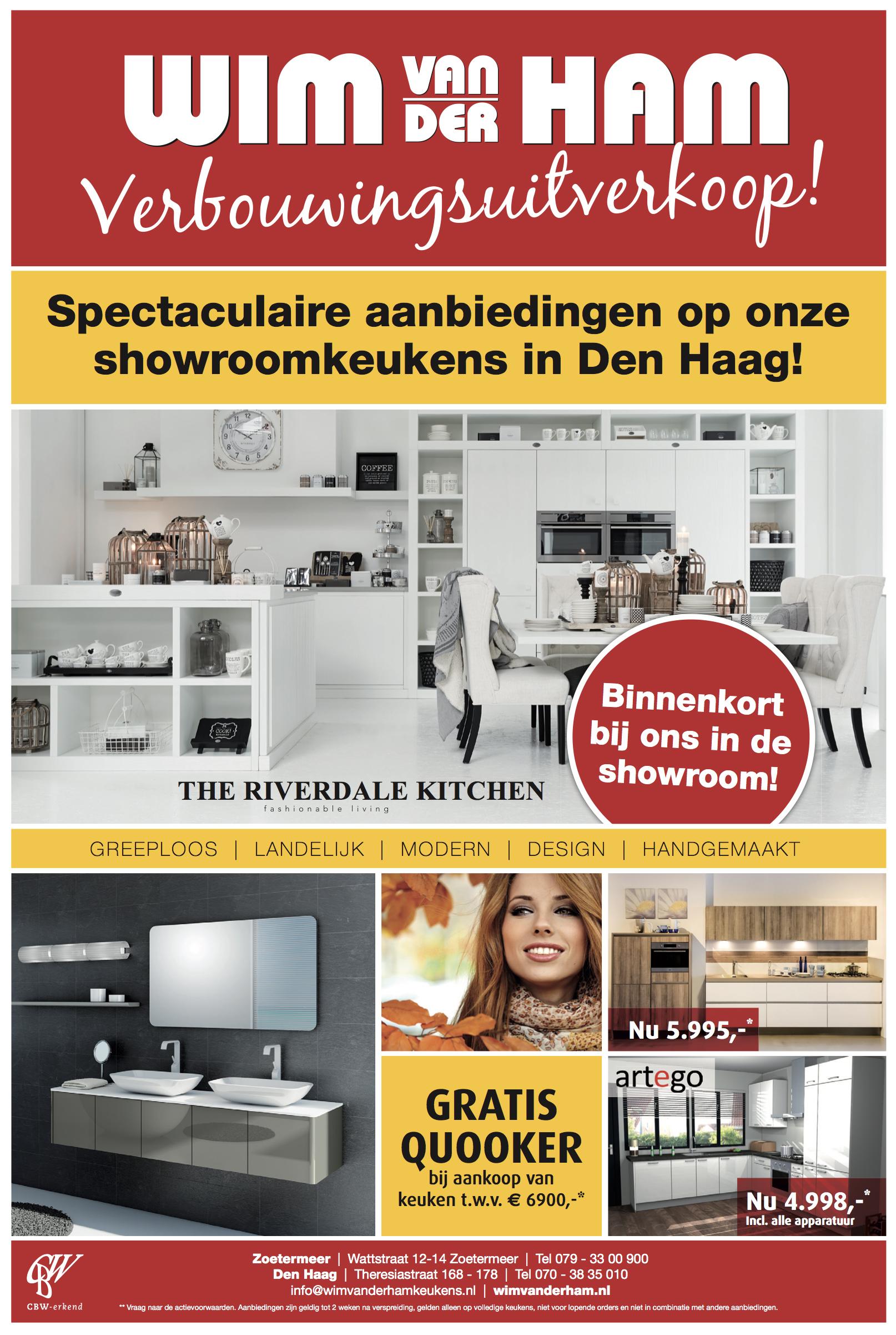 Advertentie Wim van der Ham Keukens